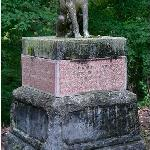 Pedro - the loyal dog Located in the Maple Hill Cemetery.  Marks the  grave of Dr. Emile Overton  Moore.  Recognized in the  Catalog of the Smithsonian American Art Museum.