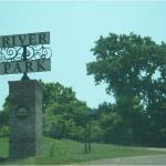 Entrance to the River Park where you can drive along the river.